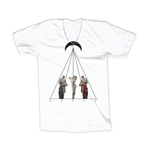 50%saleBLACK SCALE TIMELESS II GRAPHIC V NECK T-SHIRT (WHITE)