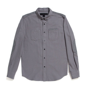 BLACK SCALE ARCUS BUTTON DOWN (GREY)