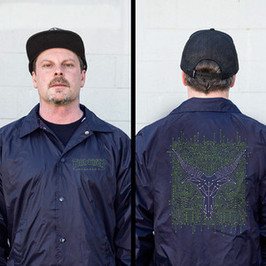 THRASHER CIRCUIT GOAT COACH JACKET (NAVY)