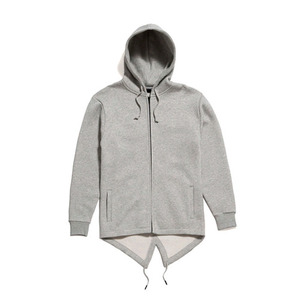 50%saleBLACK SCALE De Vault Fishtail Hoody (Heather Grey)