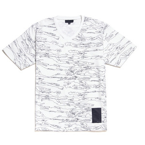 BLACK SCALE GHOST CAMO JERSEY (WHITE)