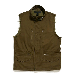 50%saleBLACK SCALE Che Military Sleevless Vest (OLIVE)