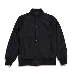 50%saleBLACK SCALE Kinne Collegiate Varsity Jacket (BLACK)