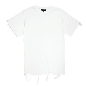 BLACK SCALE Destroyed T-Shirt (White)