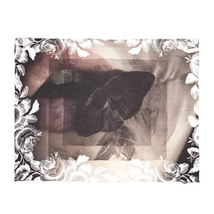 BLACK SCALE BLVCK MOTH SCARF (MULTI)