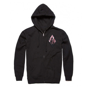 [QUICK STRIKE] BLACK SCALE BLVCK REBELS ZIP IP HOODIE (BLACK)
