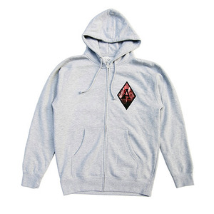 [QUICK STRIKE] BLACK SCALE BLVCK REBELS ZIP IP HOODIE (GREY)