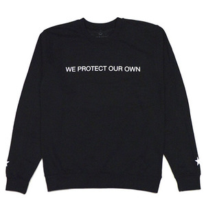[QUICK STRIKE] BLACK SCALE WE PROTECT OUR OWN CREW NECK (BLACK)