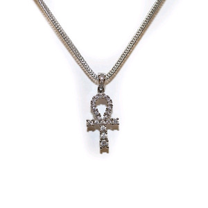 Design By TSS SILVER MINI ANKH Necklace (SILVER)