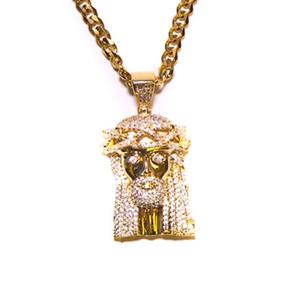 Design By TSS XL Jesus Piece (w/ Stones) NECKLACE
