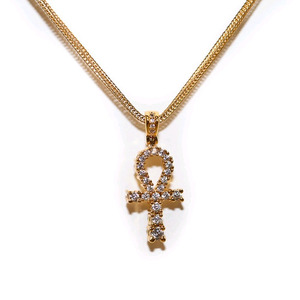 Design By TSS GOLD MEDIUM ANKH Necklace (GOLD)