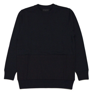 BLACK SCALE THREE POCKET APRON CREWNECK (BLACK)