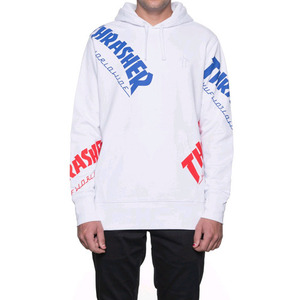 HUF x THRASHER TDS ALLOVER HOOD (WHITE)