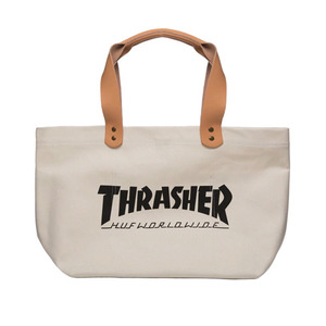 HUF x THRASHER CANVAS TOTE (WHITE)