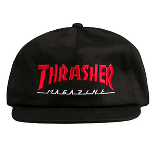 THRASHER MAGAZINE LOGO TWO-TONE HAT (BLACK/RED)