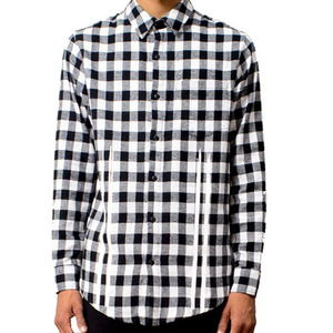 FRESH I AM PLAID FLANNEL SHIRTS (BLACK)