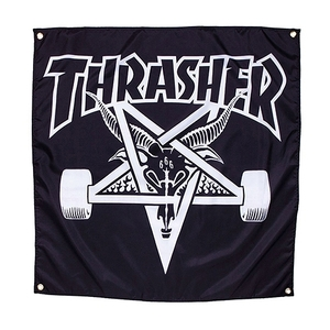THRASHER SKATE GOAT BANNER (CLOTH) (BLACK)