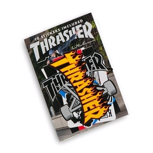 THRASHER ASSORTED STICKER 10 PACK (MULTI)