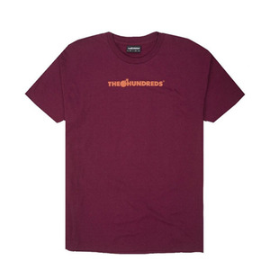 The Hundreds Bar Logo Halftone T-shirt (Burgundy)