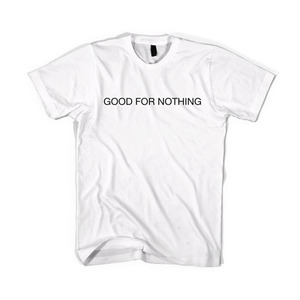 BLACKSCALE Good For Nothing T-Shirt WHITE