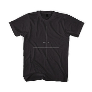 BLACKSCALE Crossed T-Shirt, BLACK