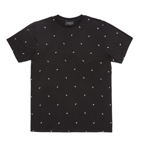 BLACKSCALE PAISLEY ESSENTIAL T-SHIRT BLACK