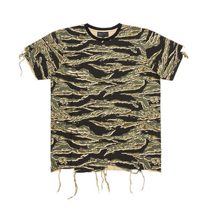 BLACKSCALE DESTROYED T-SHIRT TIGER CAMO