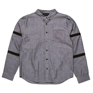 BLACKSCALE BALLISTIC OXFORD BUTTON DOWN BLACK