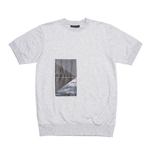 BLACKSCALE LANDSCAPE SHORT SLEEVE CREWNECK HEATHER GREY
