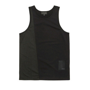 BLACKSCALE Split Mesh Tank Top Black
