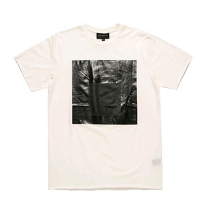 BLACKSCALE Black Parallel T-Shirt White