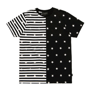 BLACKSCALE Split Stripe T-Shirt Black