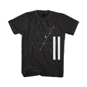 BLACKSCALE Tres Angulos T-Shirt Black