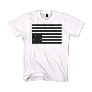 BLACKSCALE Rebel Flag T-Shirt White