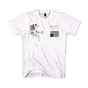 BLACKSCALE Tiger Rebel Pocket T-Shirt White